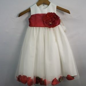 Us Angels Dresses - US ANGELS FLOWER GIRL PETAL DRESS IVORY STYLE 705